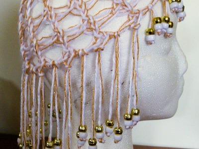 How to Loom Knit an Egyptian Head Peice