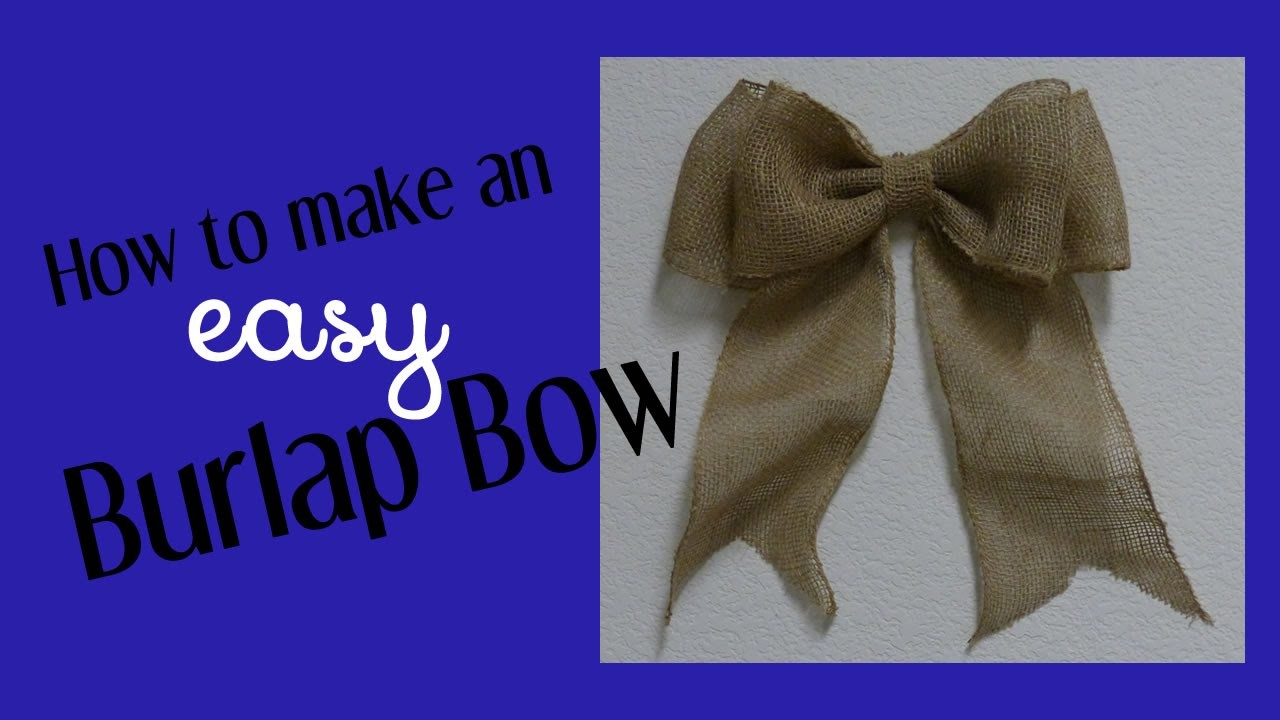 How To Make An Easy Bow For Wreaths & Home Decor