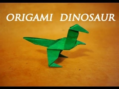 How to make an Easy Origami Dinosaur