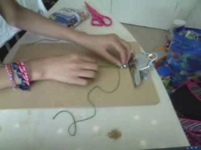 How to make Friendship Bracelets~ Square Knot with Bead (Hemp bracelet)