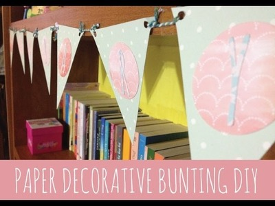 How to make Paper Decorative Bunting - DIY Room Decoration - Indonesia tutorial