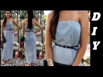 How to make Strapless Maxi Dress DIY DamaV425