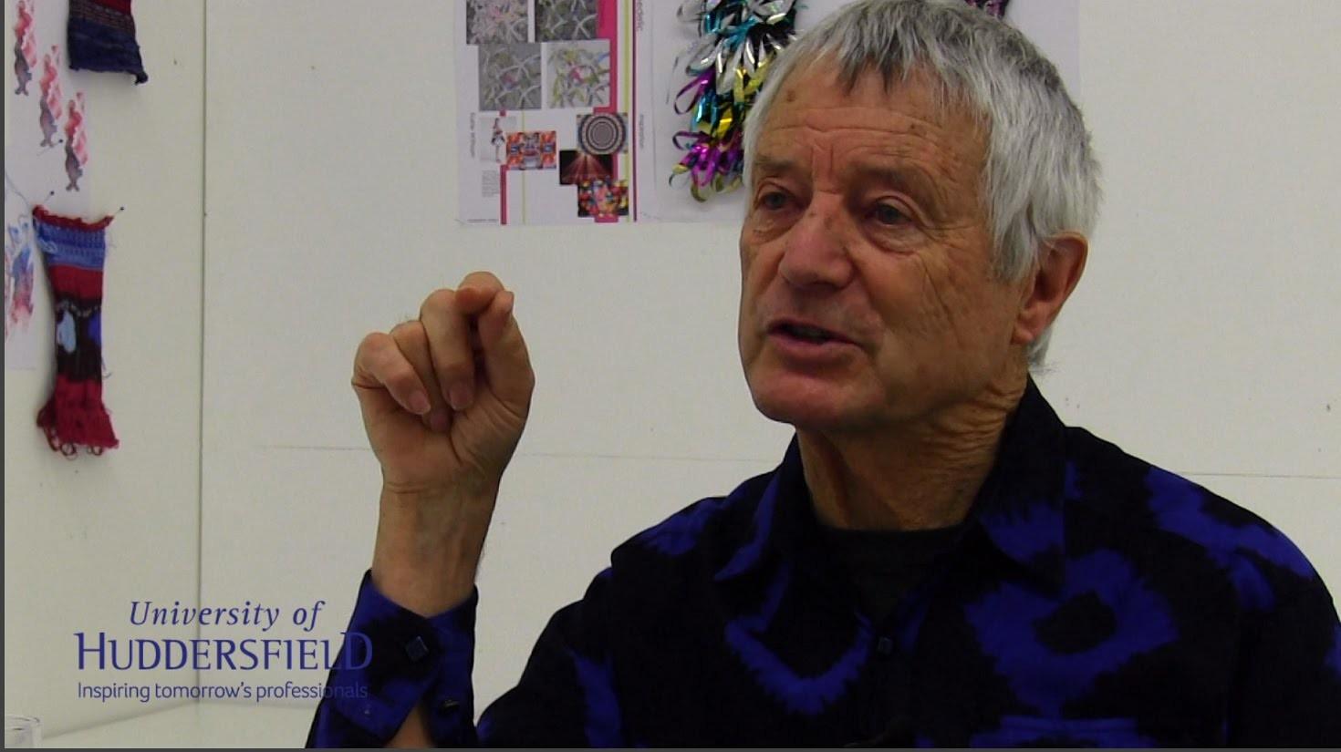 Kaffe Fassett - knitwear and textile designer - at the Univ of Huddersfield
