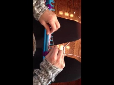 Knifty knitter newsboy hat visor tutorial
