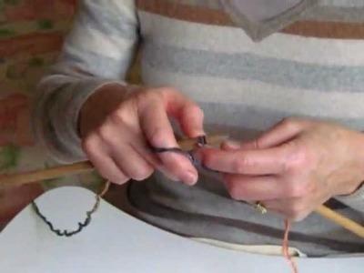 Knitting a Scarf - an unusual stitch demonstration