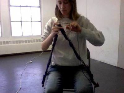 Knitting with big needles