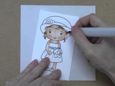 La-La Land Crafts TV {Copic Coloring - Marci with Rose} Episode 1, part 1