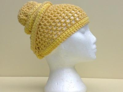 Mesh Head Wrap Hat Crochet Tutorial
