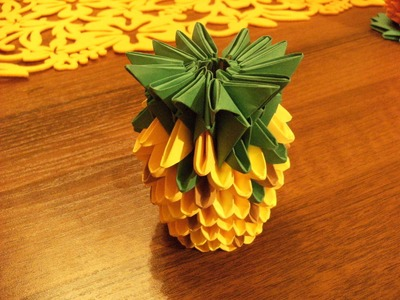 ORIGAMI 3D - mini pineapple - how to make instructions