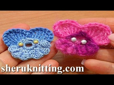 Pansy Flower Quick to Crochet Tutorial 64 Part 2 of 2 Petals Made of Bullion Block Stitches