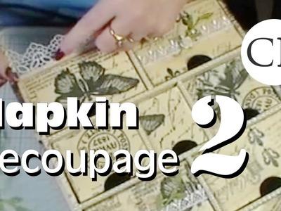 Paper Napkin Decoupage Part 2