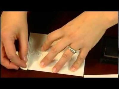 "PBS-Scrapbook Memories Series 1600 (episode 5) Texture Boutique -- ""I Love You"" Card"