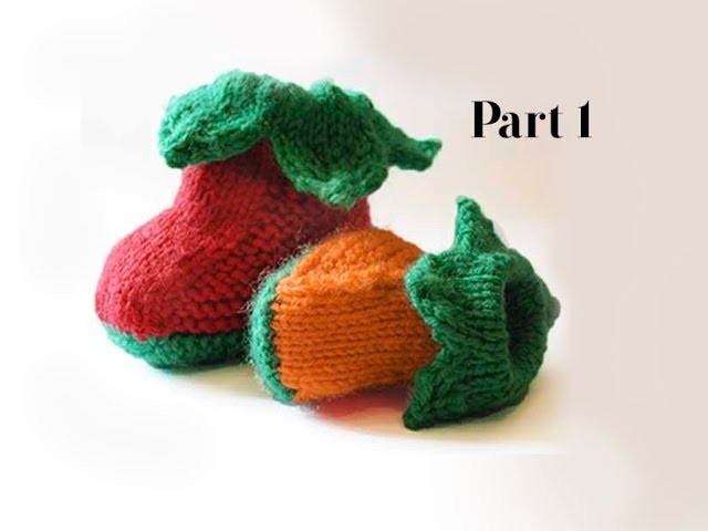 PUMPKIN BOOTIES PART 1- How to create the sole of these gorgeous baby booties