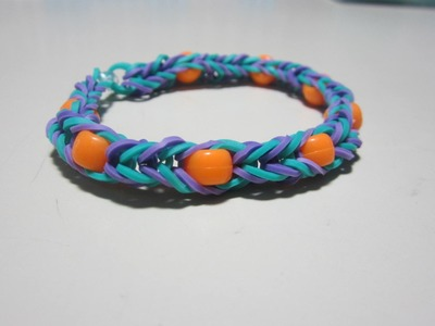 Rainbow Loom Tutorial: Beaded Fishtail Bracelet