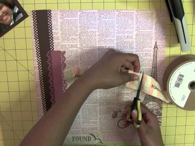 Scrapbook Layout Process Tutorial: Parisian Themed
