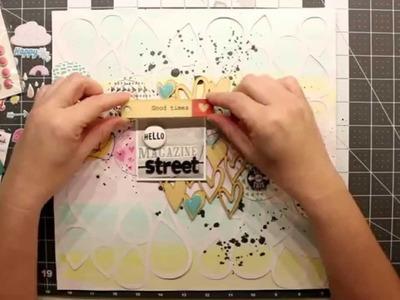 Scrapbook Process Video: A Flair for Buttons - Hello Magazine Street