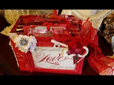 Scrapbookgiggles 2015 Red Valentine's scrapbook mini album