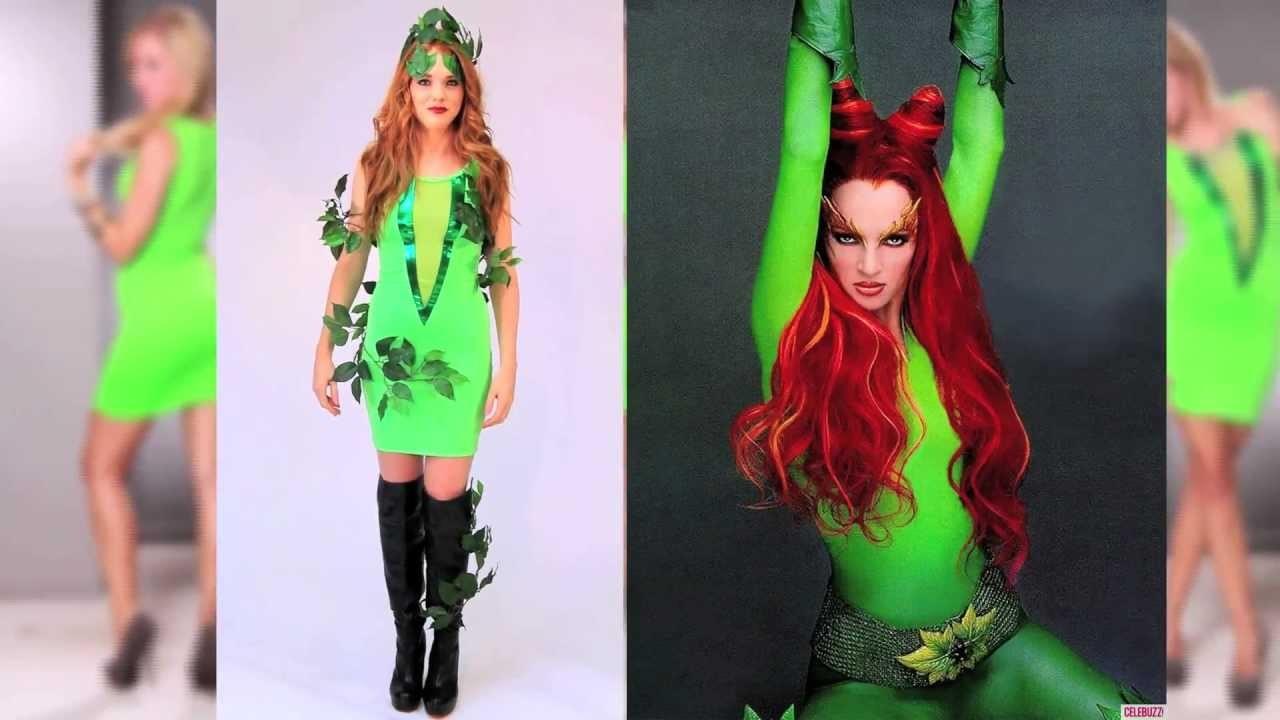Sexy Halloween Poison Ivy inspired Costume DIY