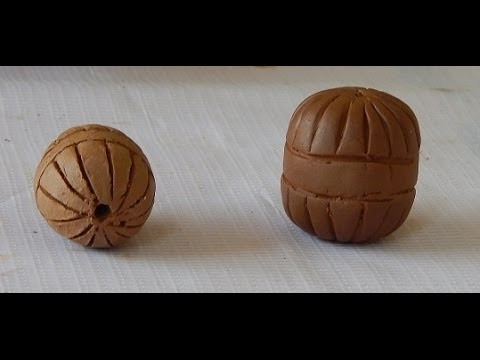 Terracotta Jewellery: how to make designed Terracotta beads