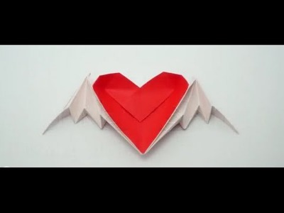 The Art of Paper Folding - How to Make an Origami Heart with Wings