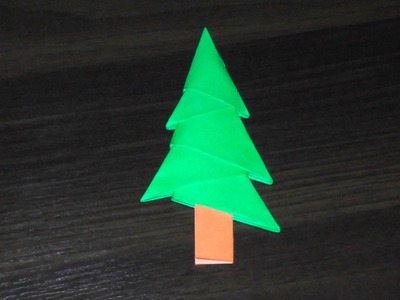 simplest 3d paper christmas tree bow in kanzashi school master class handmade my crafts 7153