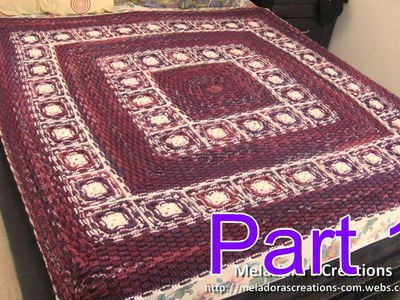 Basket Weave Granny Afghan pt 1 - Left Handed Version - Making the Grannies