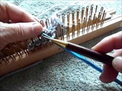 Chain stitched or crocheted bind off regular gauge slim kiss loom