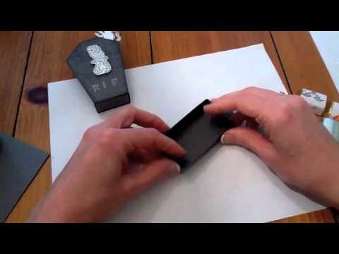 Cool paper Crafts: How to Make a Tombstone Nugget Box