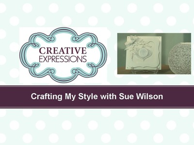 Craft Dies by Sue Wilson -- Tutorial Video; Mother of Pearl Frosted Ornament