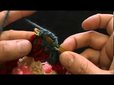 Crochet baby girl dress with two granny hexagons part three