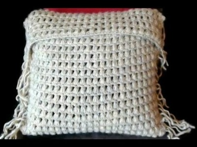 Crochet Cushion Cover in Puff Stitch Part 1 by Crochet Hooks You