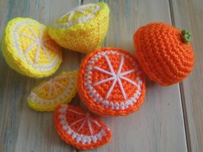 (crochet) How To - Crochet a Lemon Half - Yarn Scrap Friday