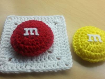#Crochet M&M candy Granny Square TUTORIAL #crochetgrannysquare