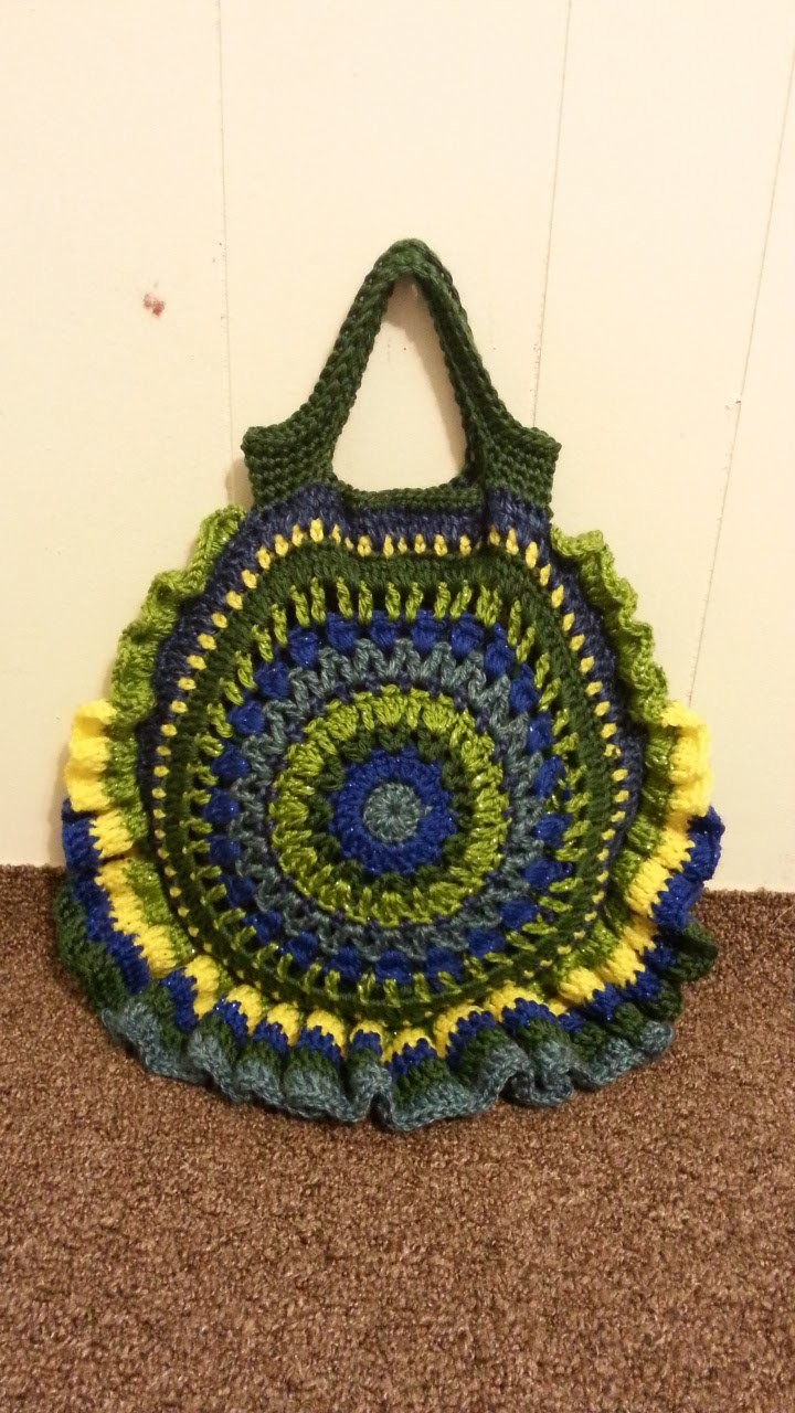 #Crochet Round Handbag Purse #TUTORIAL Circle Purse How to Crochet a Bag