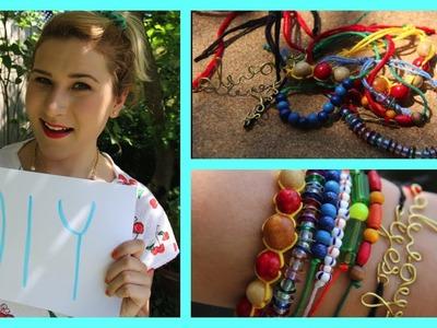 DIY Dainty Adjustable Bracelets ✄