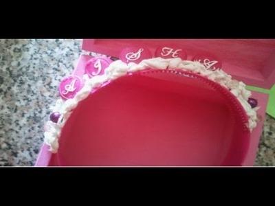 DIY:Deco den: tutorial decorare un cerchietto