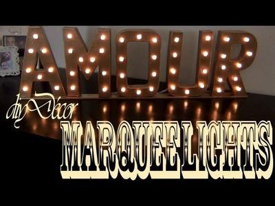DIY Décor ♥ Marquee Lights