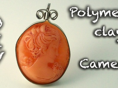 DIY Faux stone Polymer clay cabochon tutorial - Fimo pendant