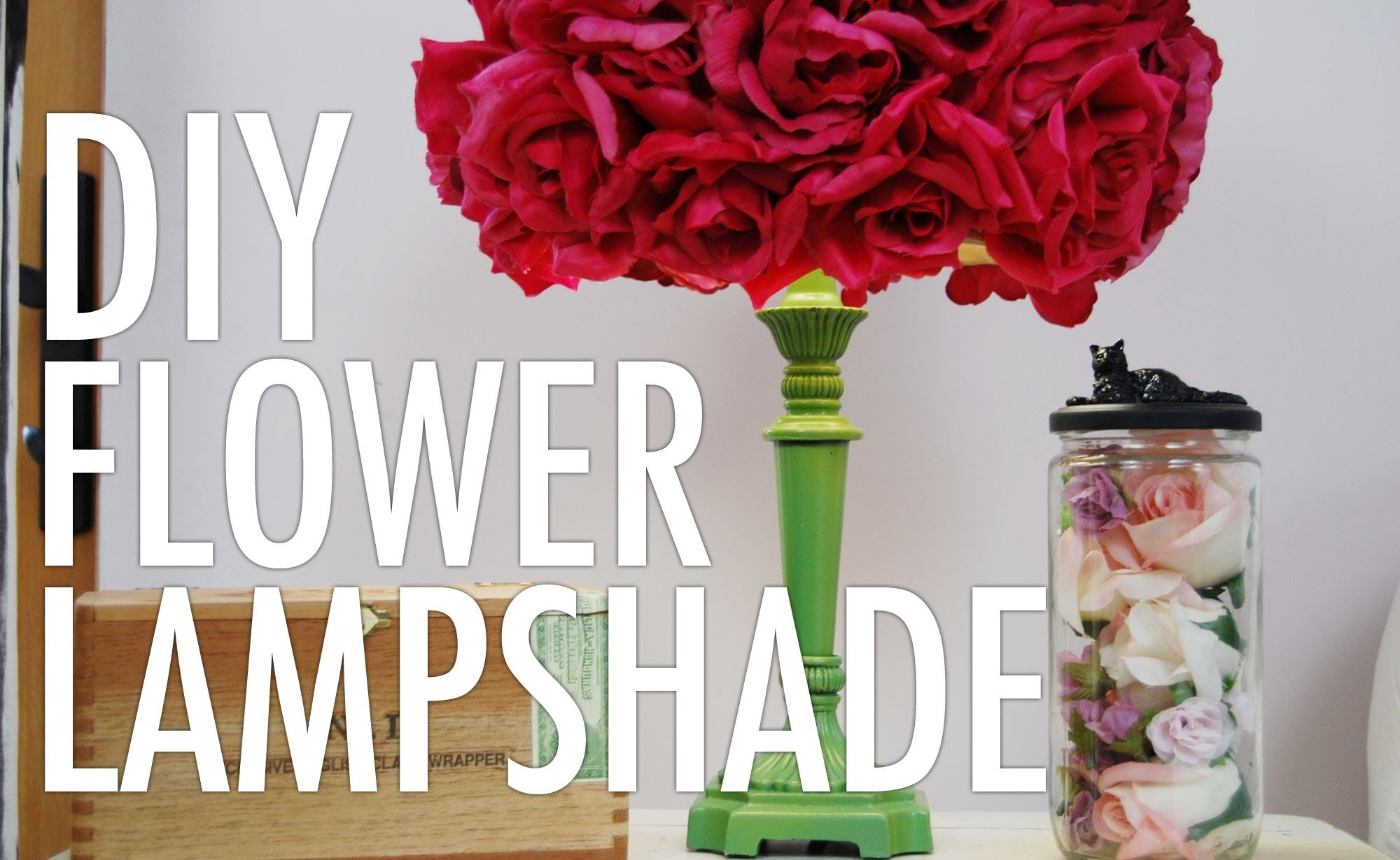 DIY Flower Lampshade with Mr. Kate