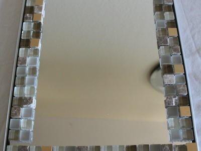 DIY - Home Decor- glass tile Mirror frame