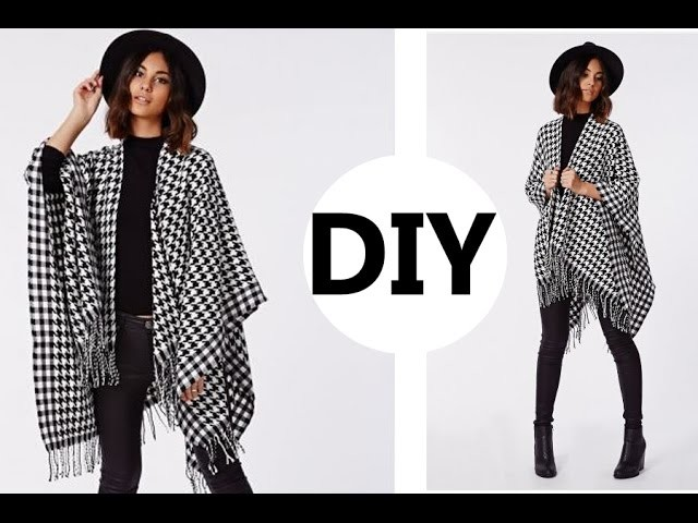 DIY. How To Make A Poncho (Easy Sewing)