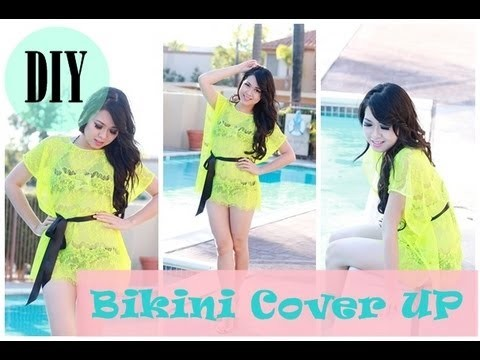 DIY :  How to sew bikini cover up. swimsuit cover up