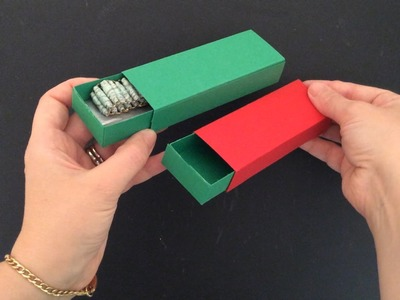 DIY Matchbox style Gift Box for Rainbow Loom Bracelets (DD Day 12)
