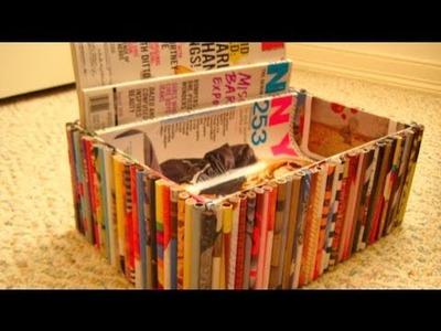 DIY Recycled Magazine Organizer