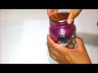 {DIY} Room Decor: Glitter Mason Jar Tutorial