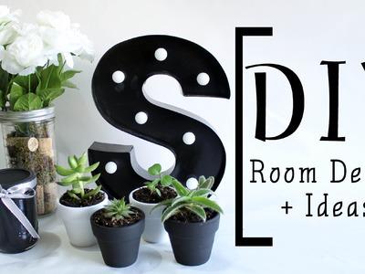 DIY Room Decor + Ideas! | Succulents, Rustic Flower Vase, Marquee Light, Colored Jar  | ShayBrit