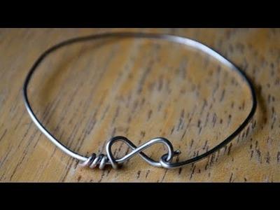 DIY Wire Infinity.Heart Bracelets