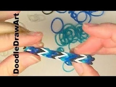 Doodle Draw Art now has Rainbow Loom Elastics tutorials done with Crochet Hook!