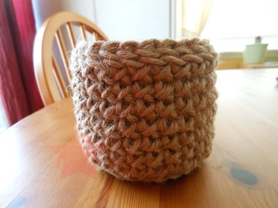 Easy Simple Rustic Crochet Bowl Tutorial