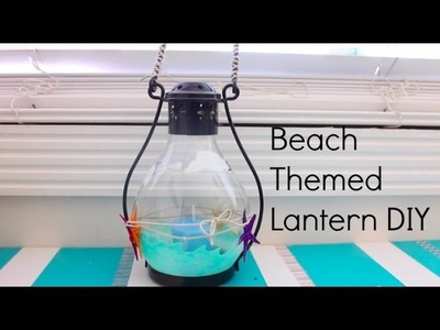 Gift Idea.Summer DIY: Ocean Themed Lantern.Candle Holder Decoration